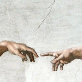 Hand geben Kommunikation