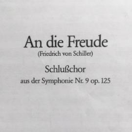 Beethoven Schlusschor Neunte Cover