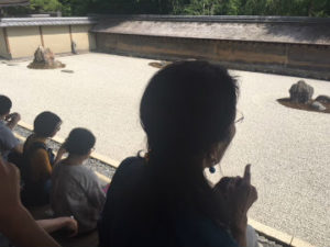 Zen Steingarten Ryoan-ji Tempel Kyoto