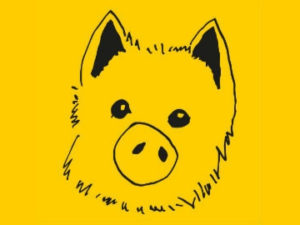 Schweinehund-portrait-zum-Jahr-des-schweins