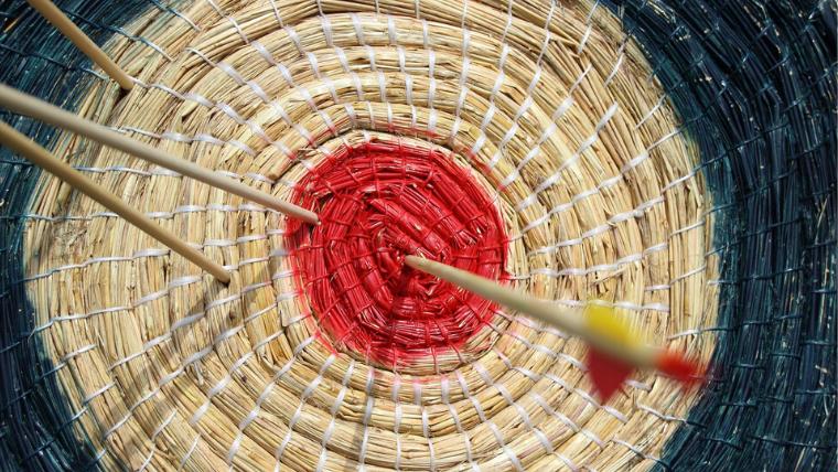 Strategie für Selbststaendige heißt Business-Ziele leichter erreichen: Ins Rote zielen.