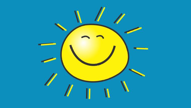 Servicebewusstsein bedeutet, dass KlientInnen strahlen vor Zufriedenheit. Wie die Sonne